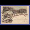 Monaco Monte Carlo hübsche alte Ansichtskarte von 1898, gelaufen nach Greiz