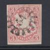 Altdeutschland Bayern Wappen 3 Kreuzer rosa Mi-Nr. 15 mit GMR 54