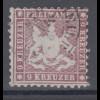 Altdeutschland Württemberg 9 Kreuzer dunkelkarmin Mi.-Nr. 24 gestempelt gepr BPP