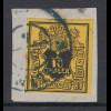 Altdeutschland Hannover Mi.-Nr. 5 gestempelt auf Briefstück