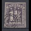 Altdeutschland Hamburg 1 1/4 Schilling dunkelviolett Mi.-Nr. 8f gestempelt