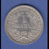Deutsches Kaiserreich Kursmünze 1 Mark D 1905 vorzüglich !