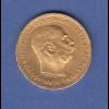 Goldmünze Österreich Franz Joseph, 20 Kronen. 6,78g 900er Gold.
