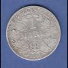 Deutsches Kaiserreich Silber-Kursmünze 1 Mark A 1887
