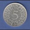 Bundesrepublik Kursmünze 5 Mark Silber-Adler 1970 J