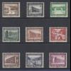 Deutsches Reich 1936 WHW Moderne Bauten Mi.-Nr. 634-42 Satz 9 Werte kpl. **