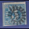 Altdeutschland Bayern Mi-Nr. 2 II mit GMR 217 München