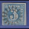 Altdeutschland Bayern Mi-Nr. 2 II mit GMR 324 Spalt / Münchberg