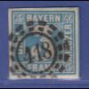Altdeutschland Bayern Mi-Nr. 2 II mit OMR 418 Regensburg