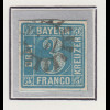 Bayern, 3 Kreuzer blau Mi.-Nr 2 II Platte 2 gestempelt mit GMR
