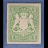 Bayern Wappenausgabe geschnitten 1867 Wert 1 Kreuzer grün sauber *