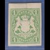 Bayern 1867 Wappenausgabe geschnitten 1 Kreuzer grün sauber * gepr. Brettl BPP