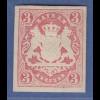 Bayern 1867 Wappenausgabe geschnitten 3 Kreuzer rot Mi.-Nr. 15 sauber *