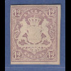 Bayern 1867 Wappenausgabe geschnitten 12 Kreuzer braun Mi.-Nr. 18 sauber *