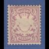 Bayern Wappen 5-Pfennig hellviolett Mi.-Nr. 45a sauber ungebraucht *