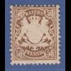 Bayern Wappen 50-Pfennig braun Mi.-Nr. 46 sauber ungebraucht *
