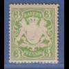 Bayern Wappen eng gez. 3 Pfg. grün Mi.-Nr. 54B x sauber *
