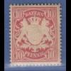 Bayern Wappen eng gez. 10 Pfg. rot Mi.-Nr. 56B x a sauber **