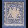 Bayern Wappen eng gez. 20 Pfg. blau Mi.-Nr. 57B x a sauber **