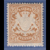 Bayern Wappen eng gez. 25 Pfg. hellbraun Mi.-Nr. 58B x sauber **