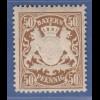 Bayern Wappen eng gez. 50 Pfg. braun Mi.-Nr. 59B x sauber **
