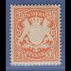 Bayern Wappen eng gez. 25 Pfg. orange Mi.-Nr. 62 x sauber **