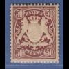 Bayern Wappen eng gez. 50 Pfg. lilabraun Mi.-Nr. 63 x sauber **