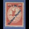 Deutsches Reich 1912 Halbamtliche Flugpost 1M Gelber Hund sauber * mit Attest