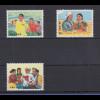 VR China 1969 Landwirtschaft Studenten Mi.-Nr. 1035-38 (ohne 1038) ** W17