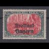 Bayern Deutsches Reich mit Aufdruck , 5 Mark-Wert Mi.-Nr. 151 A **