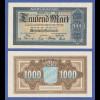 Banknote Bayern 1922, 1000 Mark in sehr guter, kassenfrischer Erhaltung !