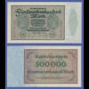 Banknote Deutsches Reich 500000 Mark in guter kassenfrischer Erhaltung !