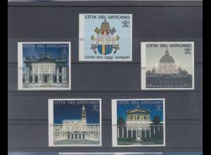 Vatikan ATM 1.Ausgabe Heiliges Jahr 2000, Mi.-Nr. 1-5 je mit Wert 400 **