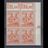 Arbeiterserie 24 Pfg, Eckrand-VB oben rechts mit Druckerzeichen 1 negativ