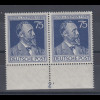 Heinrich von Stephan 75Pfg, Unterrand-Paar mit Plattennummer 2 Mi.-Nr. 964 Pl-Nr
