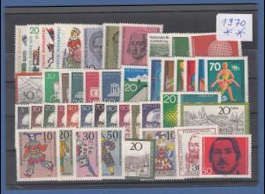 Bundesrepublik: alle Briefmarken des Jahrgangs 1970 komplett postfrisch !