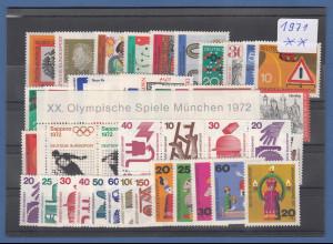 Bundesrepublik: alle Briefmarken des Jahrgangs 1971 komplett postfrisch !