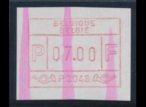 Belgien FRAMA-ATM P3048 mit ENDSTREIFEN, Wertstufe 7,00 BFr. Top-RARITÄT !