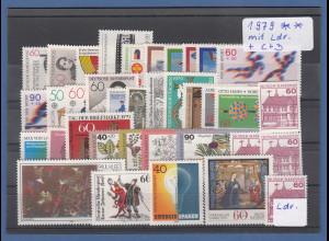 Bundesrepublik: alle Briefmarken des Jahrgangs 1979 komplett postfrisch !