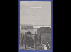 """Original alte Zeppelin-Postkarte """"Manzell"""" Gustav Eyb Kunstverlag Stuttgart"""