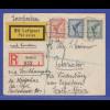Dt. Reich 1928 Luftpost-R-Brief gelaufen von Berlin nach Paternoster Süd-Afrika