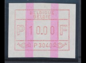 Belgien FRAMA-ATM P3040 mit ENDSTREIFEN, Wertstufe 10,00 Top-RARITÄT !