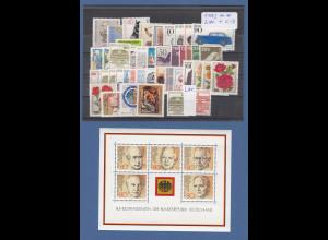 Bundesrepublik: alle Briefmarken des Jahrgangs 1982 komplett postfrisch !