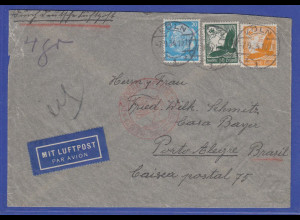 Deutsches Reich 1934 Flugpost-Brief gelaufen v. Köln nach Porto Alegre Brasilien