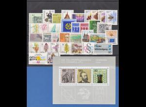 Bundesrepublik: alle Briefmarken des Jahrgangs 1984 komplett postfrisch !