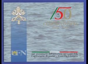 Vatikanstaat 2015 Folder CAPITANERIE DI PORTO GUARDIA COSTIERA Marke auf FDC