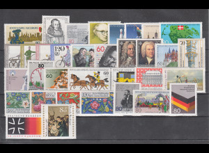 Bundesrepublik: alle Briefmarken des Jahrgangs 1985 komplett postfrisch !