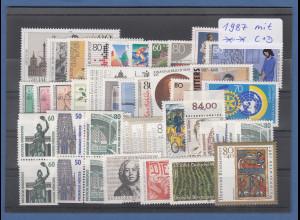 Bundesrepublik: alle Briefmarken des Jahrgangs 1987 komplett postfrisch !