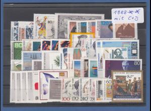 Bundesrepublik: alle Briefmarken des Jahrgangs 1988 komplett postfrisch !