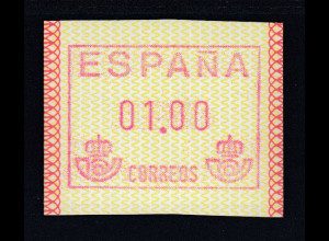 Spanien Frama-ATM Postemblem, Mi.-Nr. 1 ud **